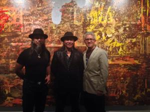 """Sergio Gomez with Zhou Brothers at the opening of """"Zhou Brothers: Early Fantasy"""""""