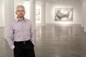 Sergio Gomez inside the main gallery of the Zhou B Art Center, 2014